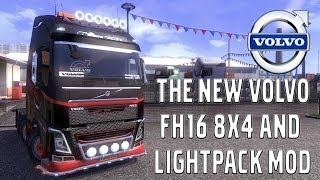 getlinkyoutube.com-Euro Truck Simulator 2 - #23 - New VOLVO FH16 Tuning W/ Mods -Chassis -Lightpack -Download