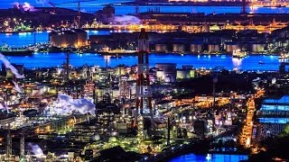getlinkyoutube.com-ULTRA HD(4k) Timelapse Night of the Mizushima Industrial zone / 4kタイムラプス 水島コンビナートの夜景