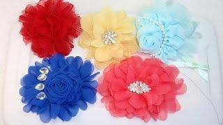 DIY  Fabric Flower, Tutorial, DIY, How to make