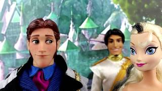 getlinkyoutube.com-Frozen Evil Elsa Marries Hans & Fight with Firepowers Against Elsa & Disney Princess Anna. Parody.