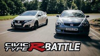 getlinkyoutube.com-2015 Honda Civic Type R VS 2005 EP3 Type R: Track Battle