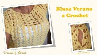 getlinkyoutube.com-Blusa verano de abanicos a crochet