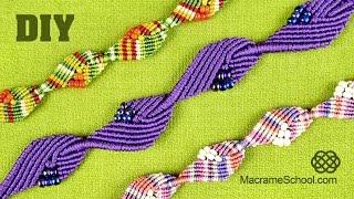 getlinkyoutube.com-Diamond Leaf Bracelet - Macrame Tutorial