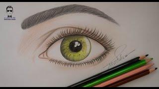 getlinkyoutube.com-تعلم رسم العين وتلوينها بالالوان الخشبية