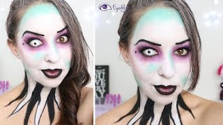 getlinkyoutube.com-Modern Beetlejuice Inspired Makeup Tutorial by EyedolizeMakeup