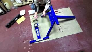 getlinkyoutube.com-Assembling Big Blue Motorcycle Lift