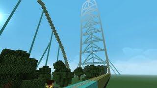 getlinkyoutube.com-Minecraft - KingDa Ka - Rideable!!