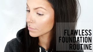 getlinkyoutube.com-FLAWLESS FOUNDATION ROUTINE | acne coverage