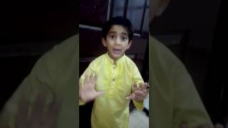 Polio Aunty parody by a kid