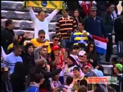 Larissa Riquelme en el Brasil vs. Paraguay (Copa America Argentina 2011)