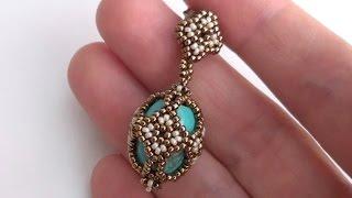 getlinkyoutube.com-Sarubbest: orecchini con perline Rocailles e perle color turchese Sarubbest