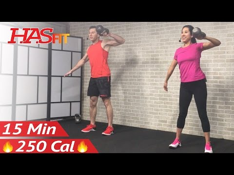 15 Min Quick HIIT Kettlebell Workouts for Fat Loss & Strength: Kettlebell Workout Training Exercises