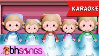 getlinkyoutube.com-Five Little Monkeys Jumping on the Bed karaoke song lyrics | Nursery Rhymes | Ultra HD 4K