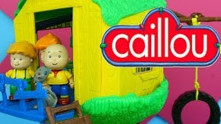 getlinkyoutube.com-Caillou's Treehouse with Caillou Rosie Leo & Gilbert the Cat!