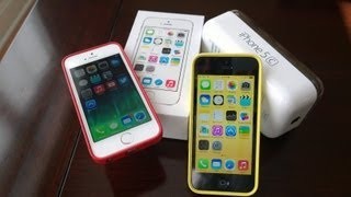 getlinkyoutube.com-Apple iPhone 5s + 5c Dual Unboxing, Demo and Comparison