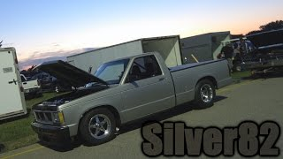 Twin Turbo Sliver 1982 S-10 Racing at Car Craft Midnight Drags