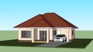 getlinkyoutube.com-แบบบ้านชั้นเดียวสวยๆ3ห้องนอน2ห้องน้ำ ปลุกสร้างง่ายๆ