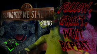 getlinkyoutube.com-123 SLAUGHTER ME STREET SONG (FOLLOW, GREET, WAIT, REPEAT) LYRIC VIDEO - DAGames