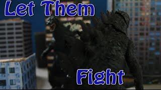 getlinkyoutube.com-Godzilla 2014 vs Godzilla 1994 NECA (Stop Motion)