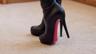 getlinkyoutube.com-Christian Louboutin Bianca Botta Knee High Boot Review