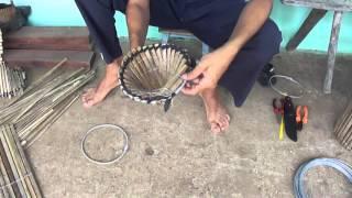 32 - Como fazer uma armadilha de pesca (covo) para pescar peixe e camarão - Part. 1