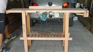 getlinkyoutube.com-Banco de carpintero - Mesa de trabajo con sierra incluida