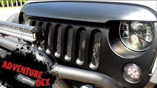 getlinkyoutube.com-Jeep Wrangler Grill Mesh insert Kit