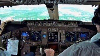 getlinkyoutube.com-KLM Martinair 747-400 - Landing Bangkok BKK, Cockpit View