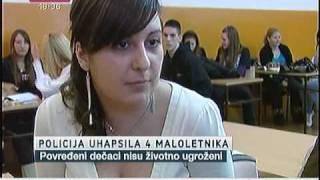 getlinkyoutube.com-Uhapšeni zbog tuče ispred škole