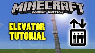 getlinkyoutube.com-Elevator in Minecraft PE TUTORIAL - Tips & Tricks - [MCPE Redstone]