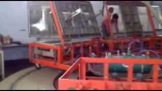 getlinkyoutube.com-Automatic Car seat manufacturing conveyor system PU