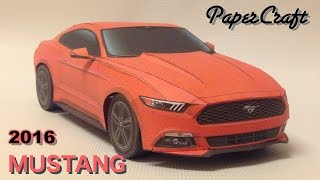 getlinkyoutube.com-Making the Ford Mustang 2016 PaperCraft