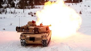 getlinkyoutube.com-Monstrously Powerful M1 Abrams & Leopard 2 Tanks in Action - Heavy Live Fire at Winter Time