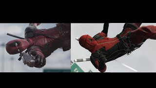 getlinkyoutube.com-Deadpool - Red Band Trailer in GTA V Side by Side Comparison