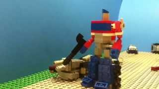 getlinkyoutube.com-LEGO TRANSFORMERS: Optimus Prime VS. Megatron