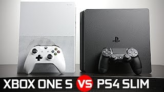 getlinkyoutube.com-Playstation 4 Slim vs Xbox One S - Battle of The Compact Gaming Console!