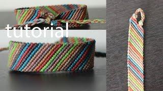 getlinkyoutube.com-pulseras de hilos  facil  ancha