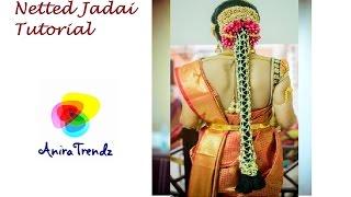 getlinkyoutube.com-Making Fresh Flower Netted Jadai Veni poola jada Chandni/Nandhiyavattai/Carnation of India