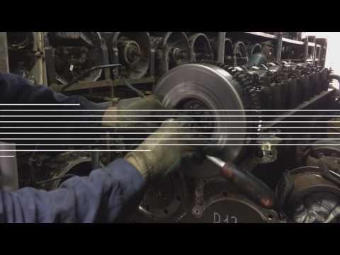 Демонтаж распределительных шестерёнок с двигателя Volvo D13