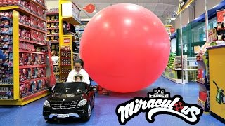 Bad Kids Driving Power Wheels Ride On Car - Giant Miraculous Balloon Stuck In Smyths Toys
