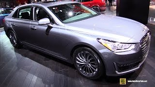 getlinkyoutube.com-2017 Genesis G90 - Exterior and Interior Walkaround - 2017 Detroit Auto Show