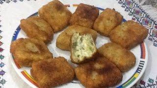 getlinkyoutube.com-مربعات البطاطس المحشوة بالجبن المقرمشة و اللذيذة من المطبخ المغربي مع ربيعة Potato and Cheese