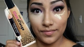 getlinkyoutube.com-Hard Candy's Glamoflauge Heavy Duty Concealer Medium/Light FIRST IMPRESSIONS