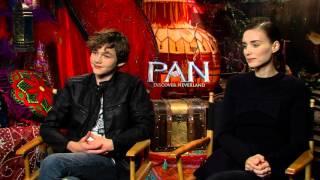getlinkyoutube.com-Pan: Rooney Mara & Levi Miller Official Movie Interview