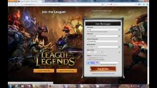 getlinkyoutube.com-How to register on League of Legends (Lol)  2014