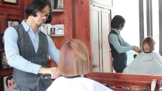 getlinkyoutube.com-long hair to short bob cut - 여자 일자 단발 헤어스타일