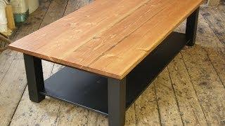 getlinkyoutube.com-Coffee Table with a Shelf
