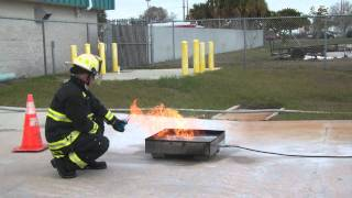 How NOT to use a fire extinguisher