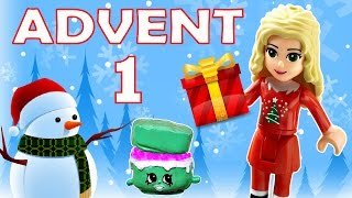 getlinkyoutube.com-Toy Advent Calendar Day 1 - - Shopkins LEGO Friends Play Doh Minions My Little Pony Disney Princess