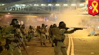 getlinkyoutube.com-Hong Kong democracy protests: Did police already use rubber bullets?